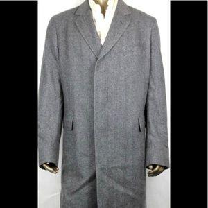 Gucci Grey 100% Cashmere Long Coat Size 54/44R